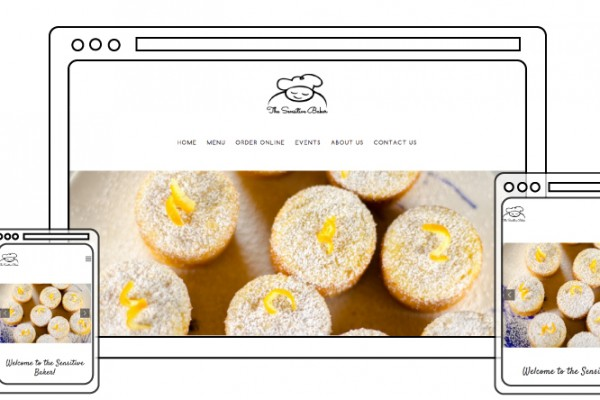 The Sensitive Baker Responsive Website