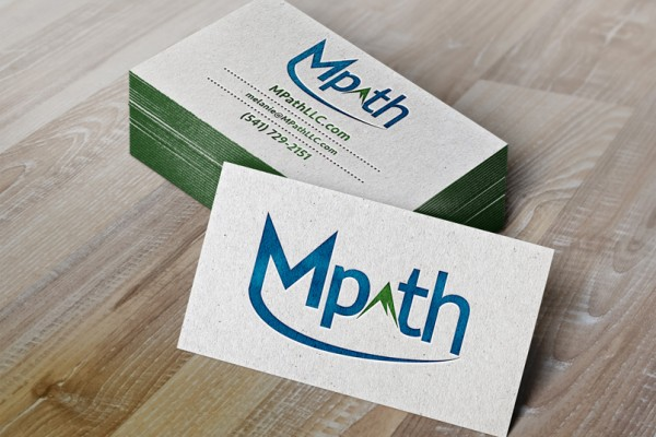 Mpath Logo Eugene Oregon Business Card Hatchbytes